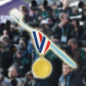 Олимпийская улыбка и зубная щетка Dr.Care