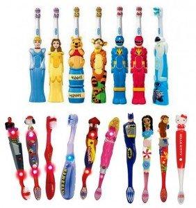 Зубные щетки для детей и другие составляющие правильной чистки зубов